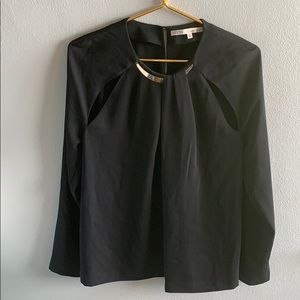 RACHEL Rachel Roy Black Long Sleeve Blouse